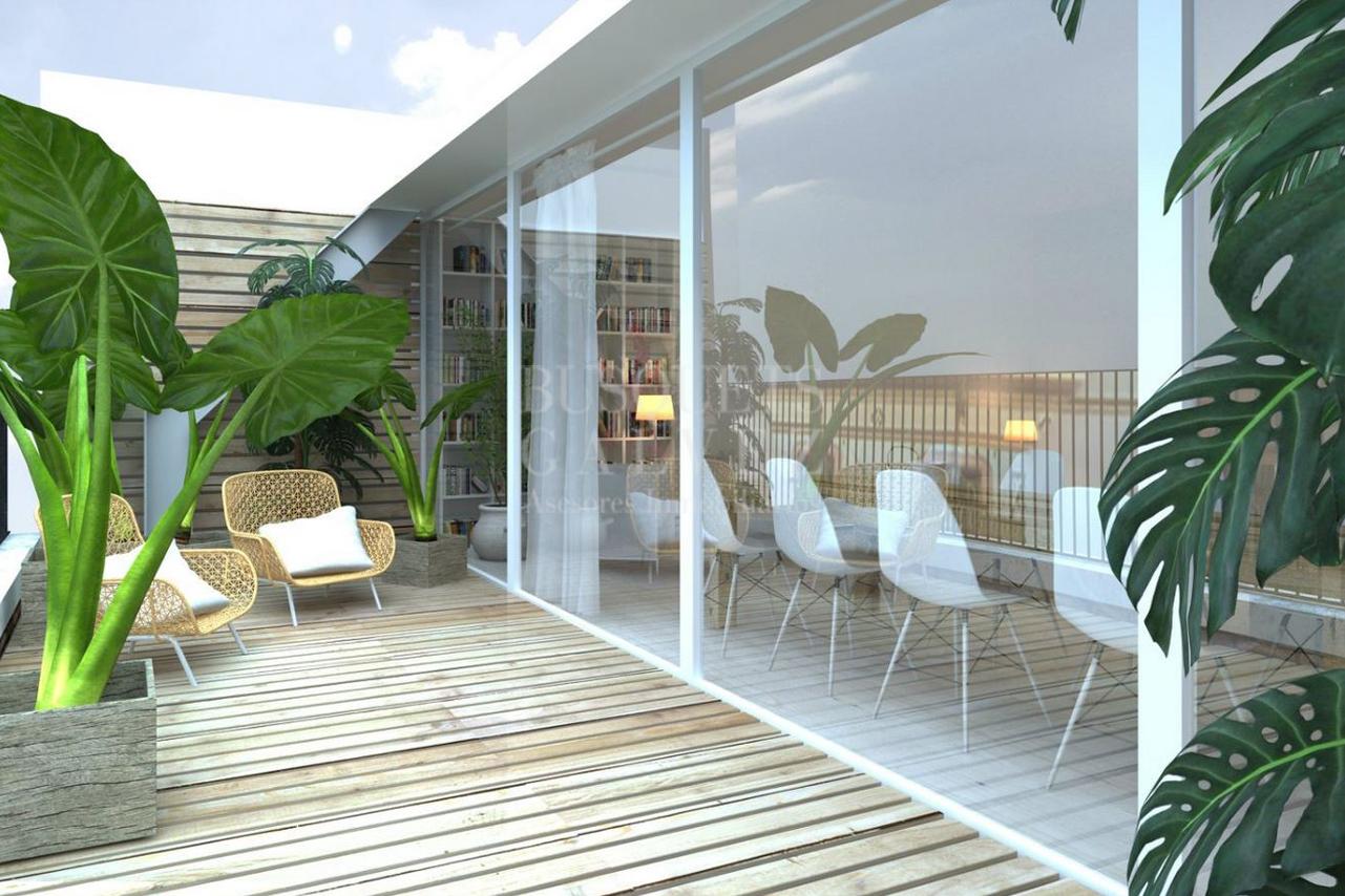 Tico con terraza de obra nueva port vell busquets - Atico terraza barcelona ...
